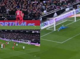 Gonzalo Guedes a ouvert la marque face au Real. Capture/BeInSports