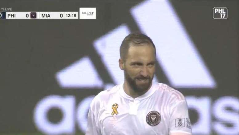 Philadelphia amarga el debut de Higuaín en una jornada con sorpresas. Captura/MLS