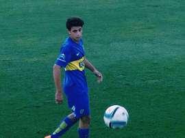 Maroni anotó con Boca ante Arsenal de Sarandí. Twitter/La12Tuittera