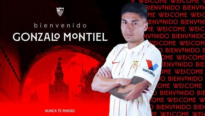 OFFICIEL : Séville signe Gonzalo Montiel. Twitter/SevillaFC