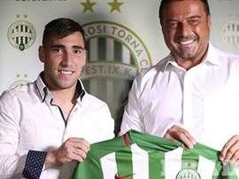 Gorriaran, nuevo jugador de Ferencvaros. FRADI