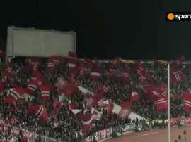 Cerca de 12 mil pessoas compareceram à partida entre CSKA Sofía e Cluj. Captura/Sportal