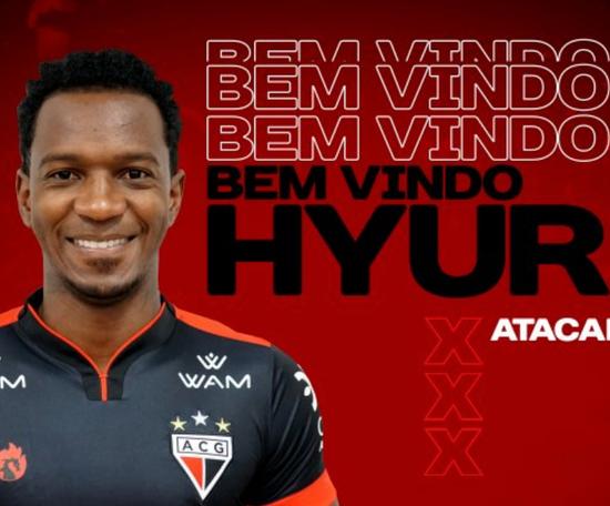 Hyuri, de 28 anos, chega do Atlético Mineiro por empréstimo. Twitter/ACGOficial