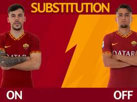 Carles Pérez debutó con la Roma. Twitter/OfficialASRoma