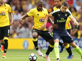 Ighalo (L) is attracting interest from China. WatfordFC