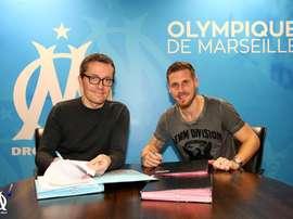 Grégory Sertic ya es nuevo jugaodr del cuadrod e Marsella. OlympiqueMarseille