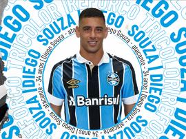 Diego Souza assinou com o clube gaúcho vínculo válido até o fim de 2020. Grêmio