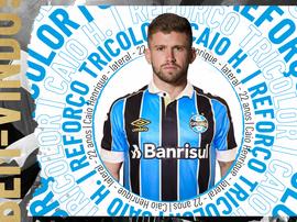 Grêmio anuncia a contratação do lateral Caio Henrique. Grêmio