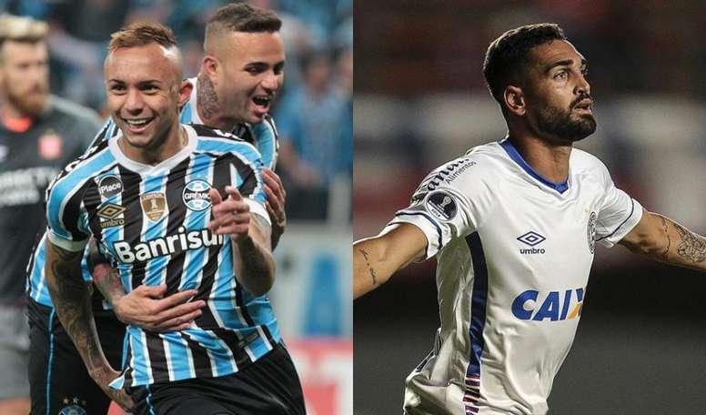 Everton e Gilberto são as armas de Grêmio e Bahia nas quartas de final da Copa do Brasil. Collage/EF
