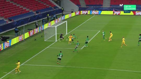 Griezmann scored as Barca led 0-2 after 20 minutes. Screenshot/Movistar+LigadeCampeones