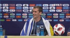 Griezmann pode receber homenagem da prefeitura de Montevidéu. Captura/FIFATV