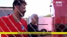 Diego Costa s'est gentillement moqué de Griezmann. Capture/GOL