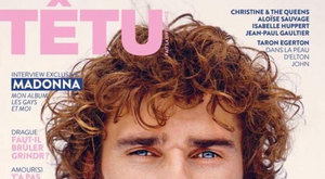 Griezmann é capa da revista Têtu. Twitter @TETUmag
