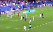 Griezmann equalizes for France against Germany. Captura/Cuatro