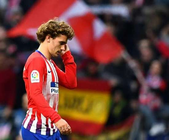 Griezmann is not having a great time at the moment. AFP