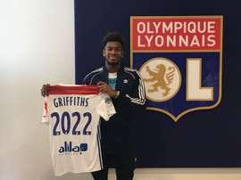 Griffiths signe à l'OL. Twitter/OL