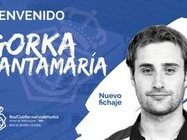 Gorka Santamaría, nuevo jugador del Recre. RecreOficial