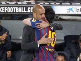 Sanchís habló de Pep y Messi. EFE