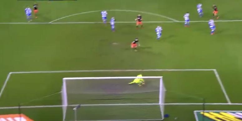 Guedes marcó el 0-1 para el Valencia. Captura/beINSports