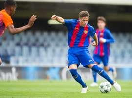 Guillemenot marcó y destacó con la Selección de Suiza Sub 19. FCBarcelona