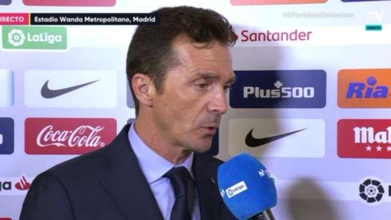 Guillermo Amor habló sobre la labor del Barcelona ante el Atlético de Madrid. Captura/Movistar