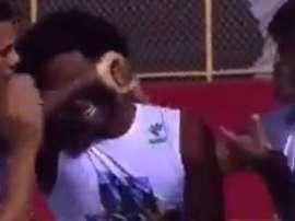 Guillermo Biteco, hermano del fallecido Matheus, le dedicó su gol en el Vitoria-Paraná. Youtube