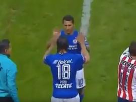 Así fue el debut de 'Gullit' Peña con Cruz Azul. Captura/TDN