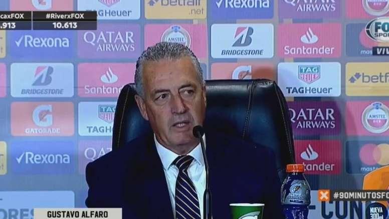 La rueda de prensa de Alfaro sonó a despedida. Captura/FOXSports