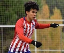 El hijo de Assunçao juega en el Juvenil del Atlético. Instagram/gustavohen77