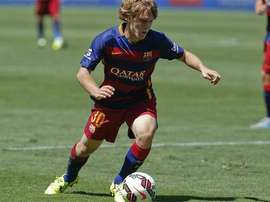 Halilovic in action for Barcelona. Twitter