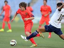 Halilovic, durante un partido con el Barcelona B. FCBarcelona