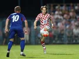 Halilovic, en un lance del Croacia-Moldavia. AFP
