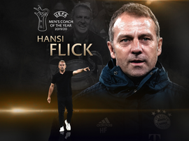 Flick won coach of the year. UEFA