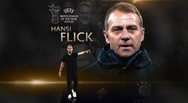 Flick won coach of the year. UEFA