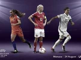 Harder, Marozsán y Martens optan al premio. UEFA