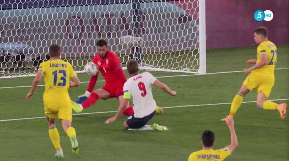 Genialidade de Sterling e gol de Kane para abrir o placar. Captura/Telecinco