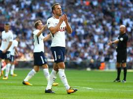 Kane is still without a Premier League goal in August. Twitter/SpursOfficial