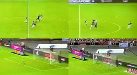 Harry Kane scored an absolute stunner from just inside Juventus' half. Capturas/PremierSports