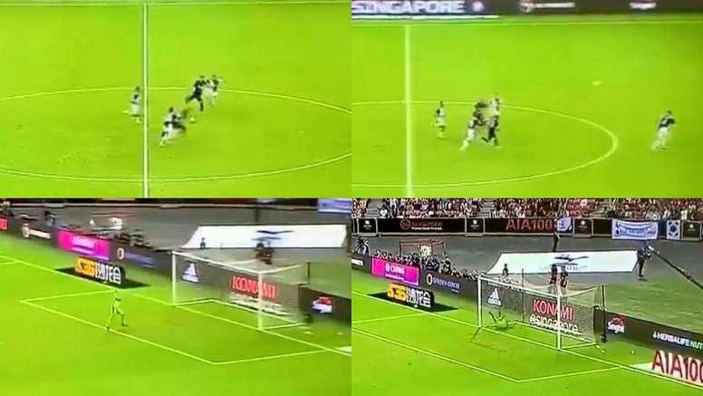Kane garantiu a virada do Tottenham contra a Juventus. Capturas/PremierSports