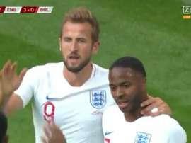 Harry Kane brilha com três gols e assistência. Captura/ZiggoSport