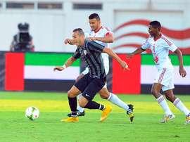 Hassan Yebda cambia el Dibba Al Fujairah de los Emiratos por el Os Belenenses de Portugal. EFE/EPA