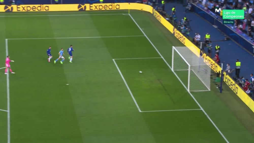 Havertz marcó el primer gol de la final. Captura/MovistarLigadeCampeones