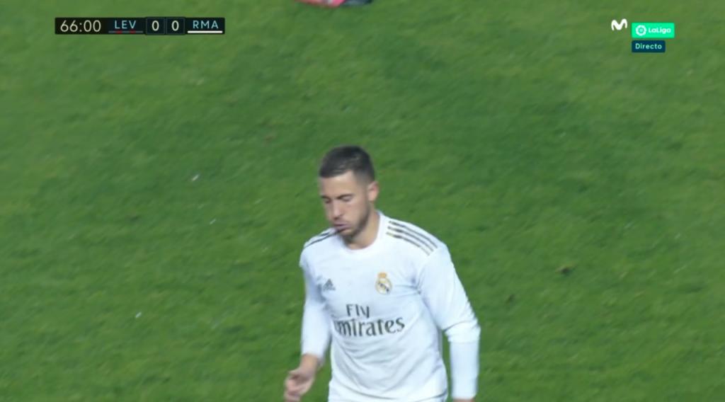 Eden Hazard, lesionado ante el Levante