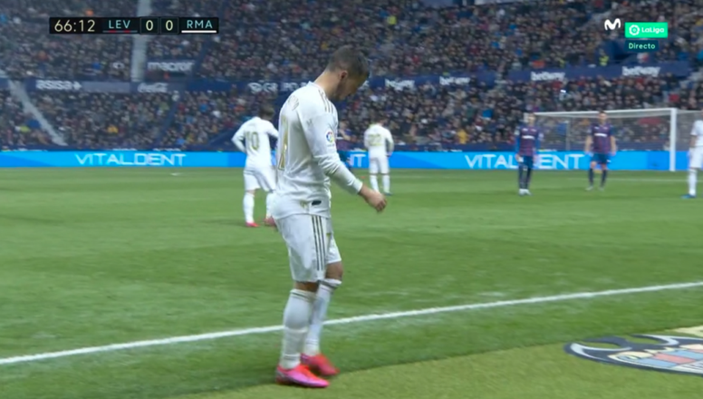 Hazard got injured. Screenshot/MovistarLaLiga