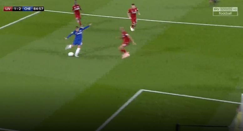Hazard scored the winner for Chelsea. Screenshot/SkySports