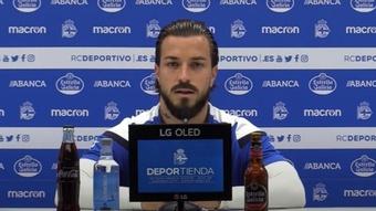 Héctor se mostró encantado de seguir en el Deportivo. Captura/RealClubDeportivoCoruña