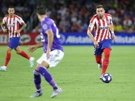 Hector Herrera n'a pas encore débuté en Liga. Twitter/Atléti