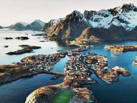 Le paysage qui entoure le stade est l'un des plus impressionnant au monde. Twitter/PacoRibes