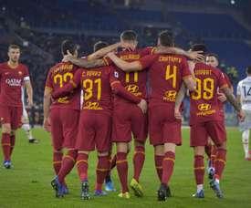 La Roma se gusta ante el Lecce. Twitter/OfficialASRoma