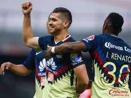 Los fobletes de Domínguez y Mateus Uribe consolidan goleada del América. AFP
